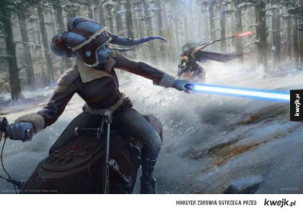 Ilustracje Cristi Balanescu do Star Wars RPG