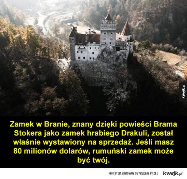 Zamek Drakuli na sprzedaż