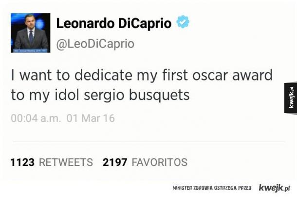 Wybitny aktor Sergio Busquets