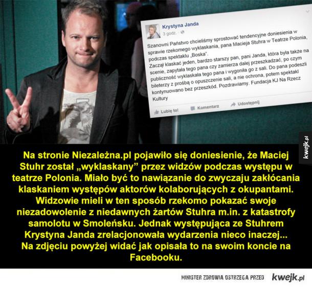 Maciej Stuhr ośmieszony w Teatrze Polonia?