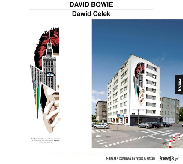 Projekt muralu na cześć Davida Bowiego w Warszawie