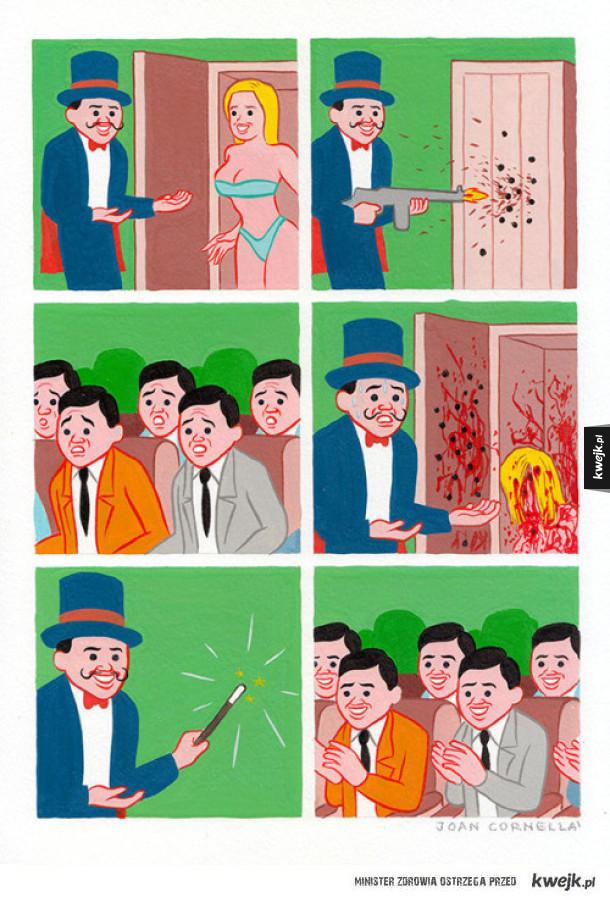 Surrealistyczne komiksy Joana Cornellà Vázqueza