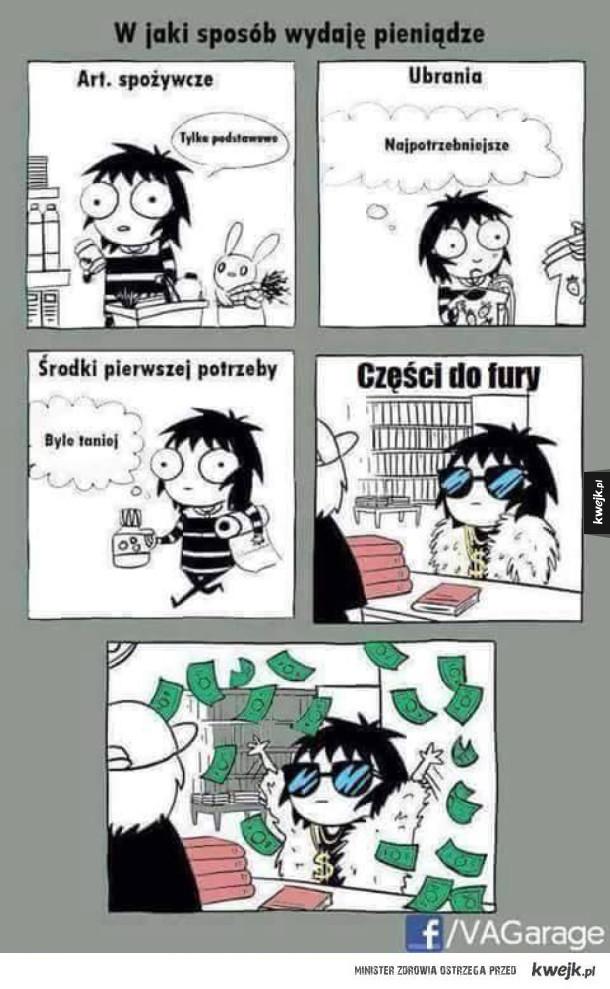 wydawanie pieniedzy