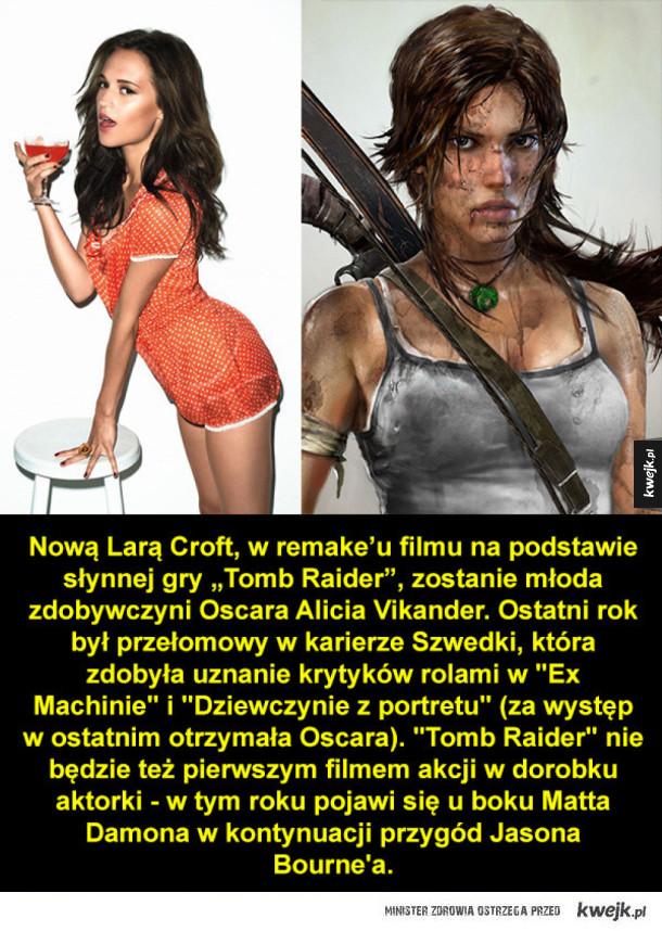 To ona zagra Larę Croft