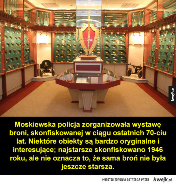 Wystawa skonfiskowanej broni