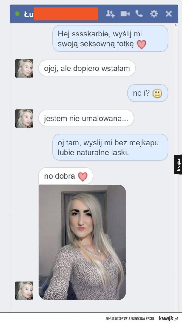 Bez makijażu :D