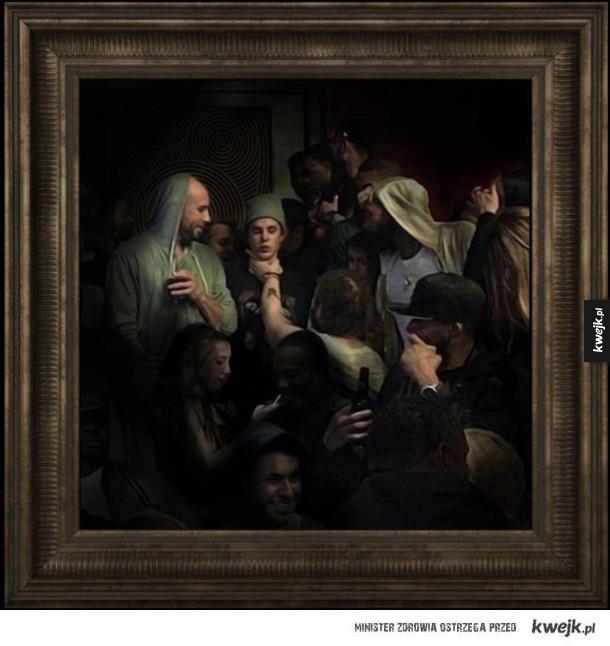 renesansowy obraz - duszenie Biebera