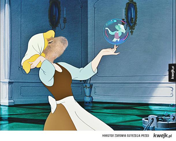 Księżniczki Disneya jako kapibary