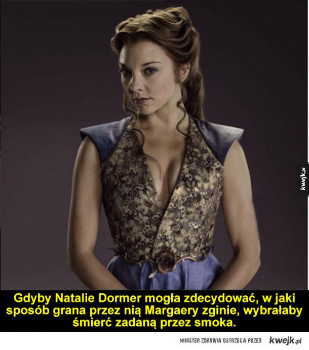 """Ciekawostki z """"Gry o Tron"""", cz. 2 - Gdyby Natalie Dormer mogła zdecydować, w jaki sposób grana przez nią Margaery zginie, wybrałaby śmierć zadaną przez smoka."""