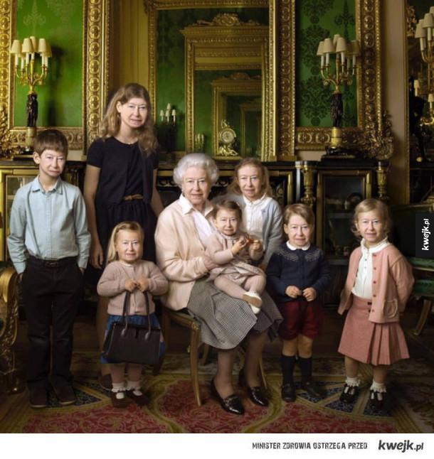 Majestatyczna rodzina królewska