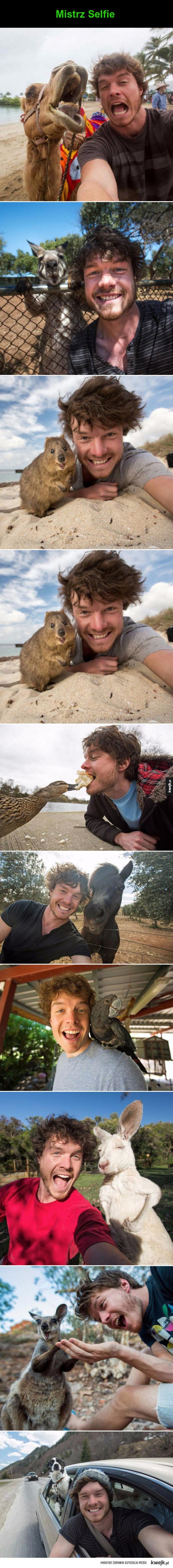 selfie ze zwierzętami