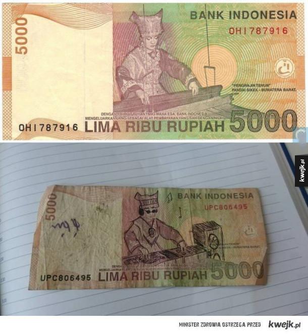 Djów mają na banknotach