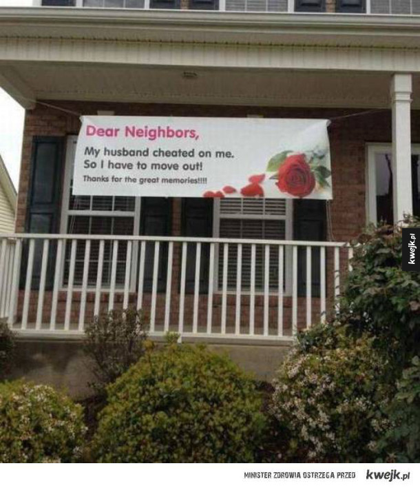 Jak się nie żegnać z sąsiadami