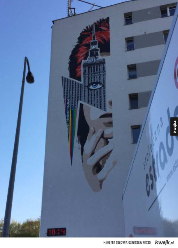 Mural Bowiego w Warszawie
