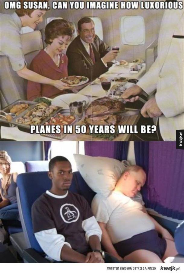 Komfortowy samolot