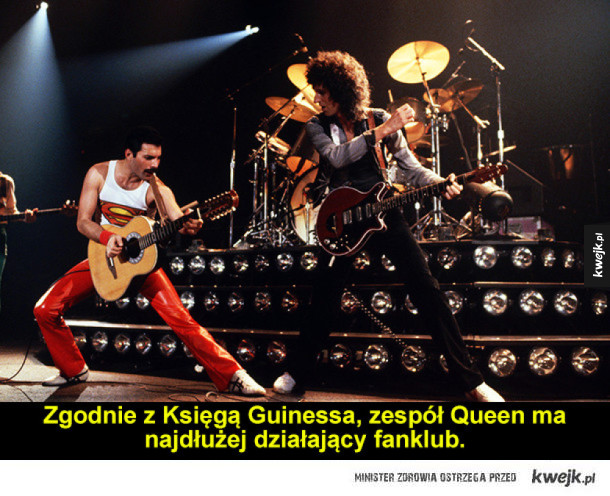 Zaskakujące rock'n'rollowe ciekawostki - Zgodnie z Księgą Guinessa, zespół Queen ma najdłużej działający fanklub.