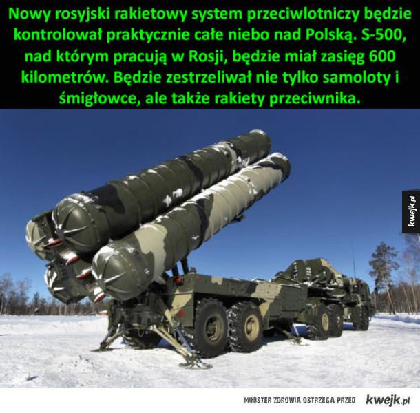 Rosyjski system rakietowy będzie kontrolował całe niebo nad Polską