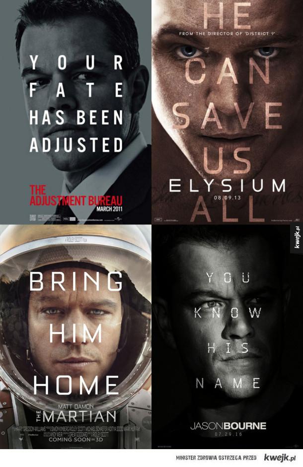Typowy plakat a la Matt Damon