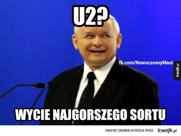 Kaczyński o Bono