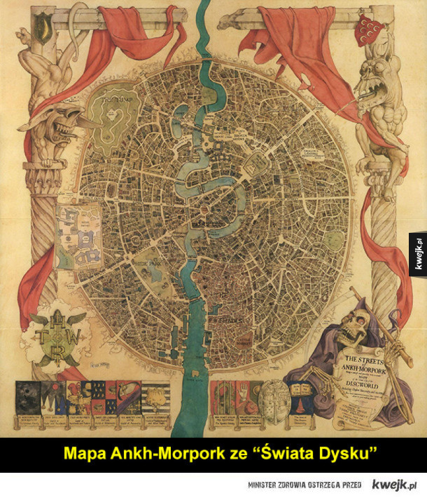 Mapy fikcyjnych światów, krain i miast