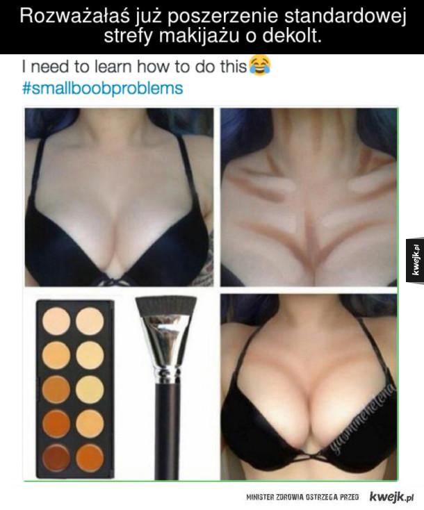 Rozważałaś już poszerzenie standardowej strefy makijażu o dekolt.