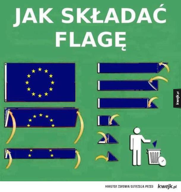 Składanie flagi