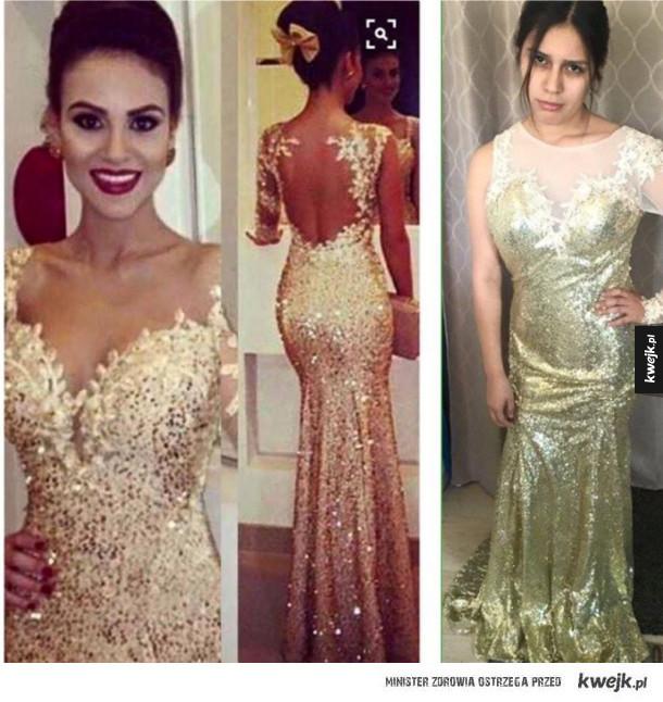 Ubrania z internetu..