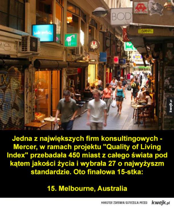 15 miast o najwyższym standardzie życia