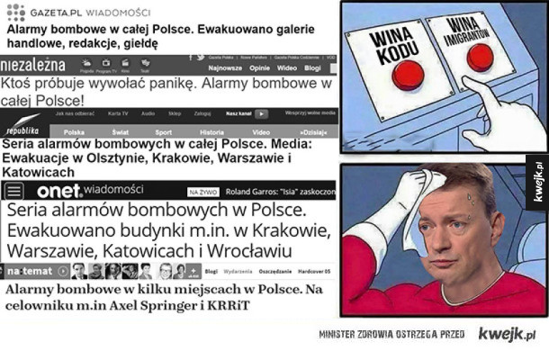Alarmy bombowe w Polsce