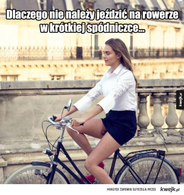 Nie zakładaj mini na rower