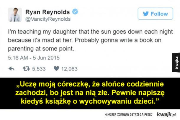 Te wpisy Ryana Reynoldsa o córce zasługują na nagrodę