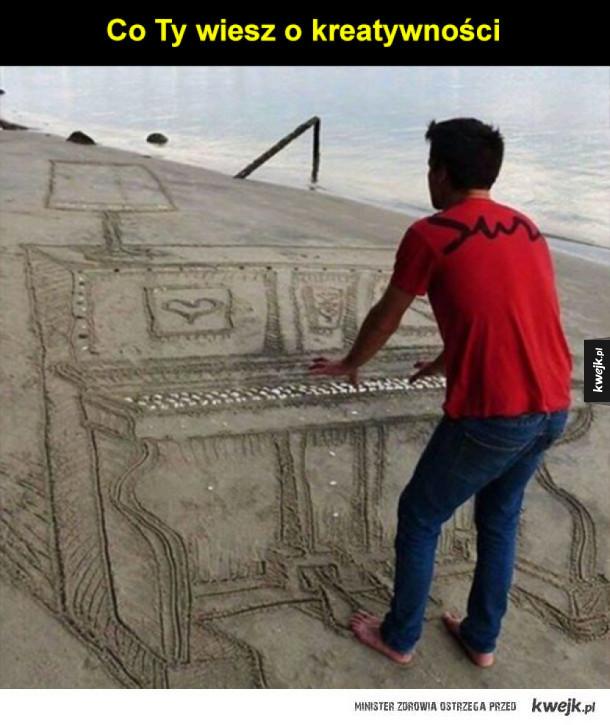 Muzyk na plaży