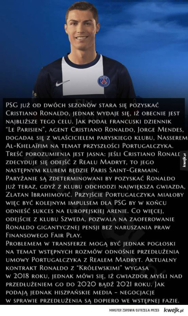 Ronaldo w PSG?