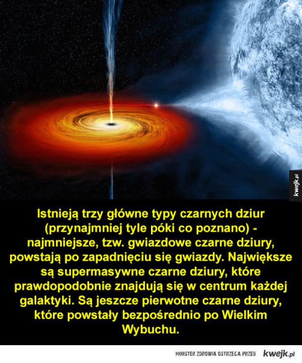 Ciekawostki o czarnych dziurach