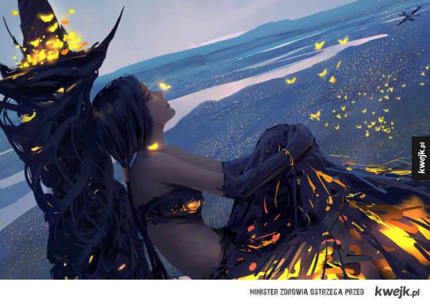 świetne grafiki fantasy autorstwa Wang Linga