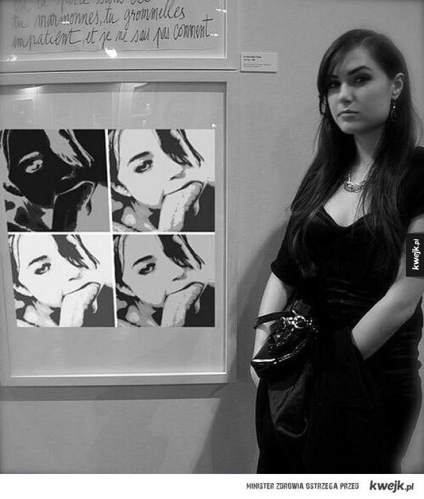 W galerii sztuki