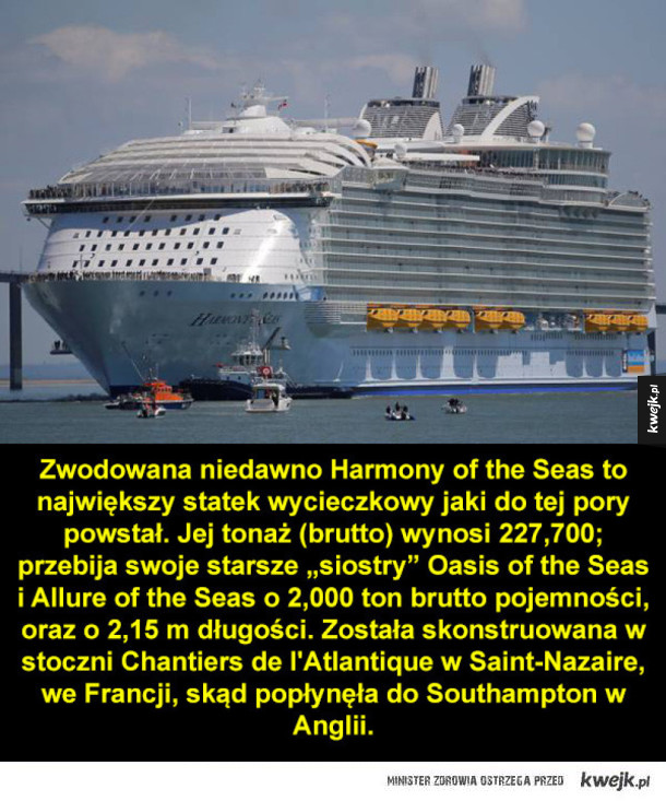 Największy statek rejsowy