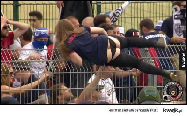 Tymczasem na meczu w Niemczech