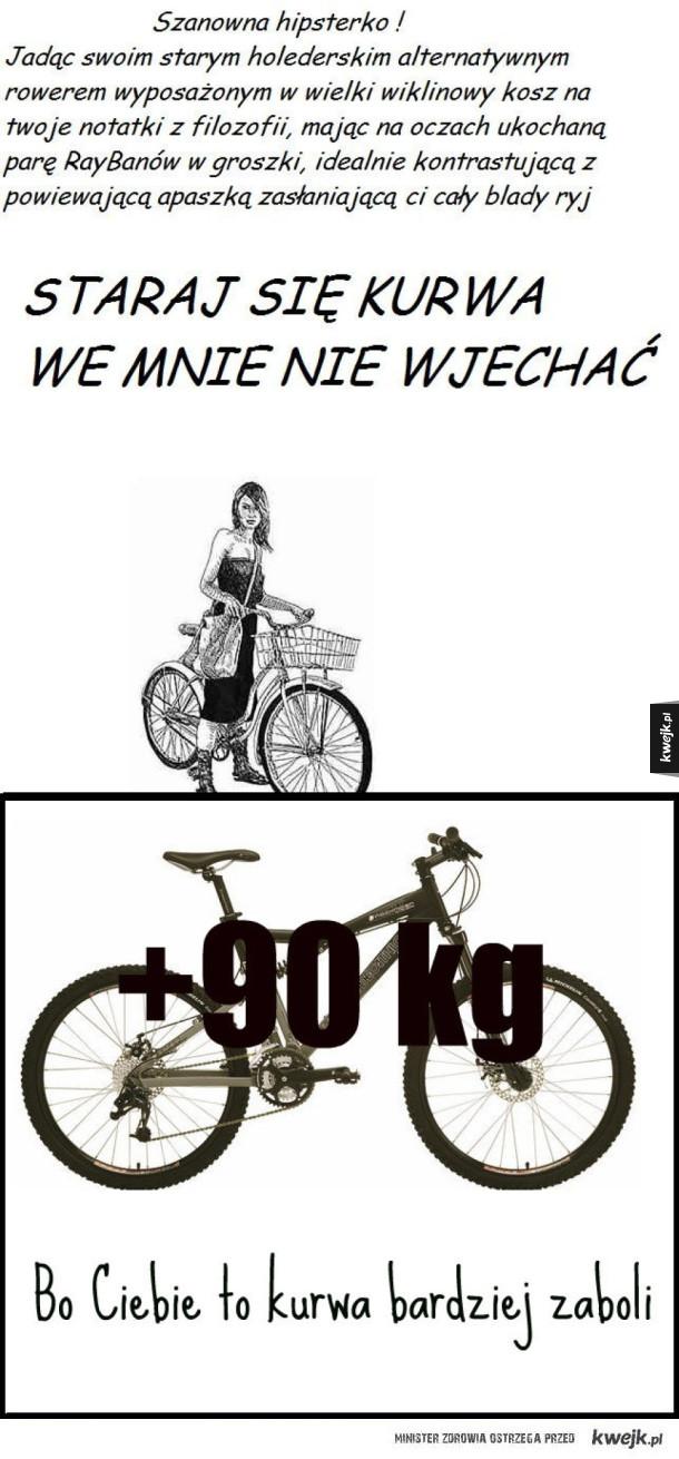 Hipsterki na rowerze