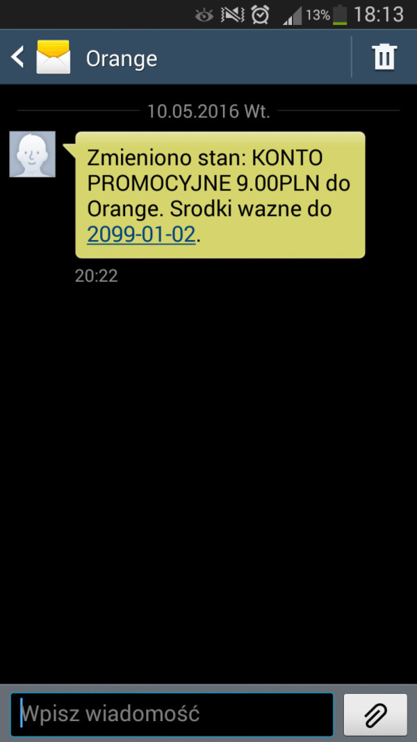 wczoraj dostałem smsa, taka tam promocja :d