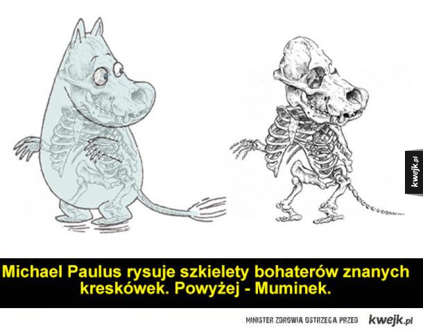 Szkielety znanych postaci z bajek