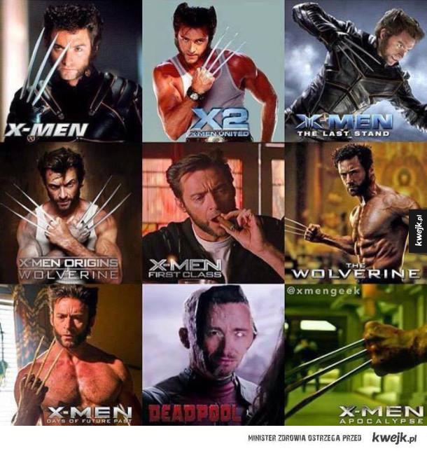 Wolverine w różnych filmach