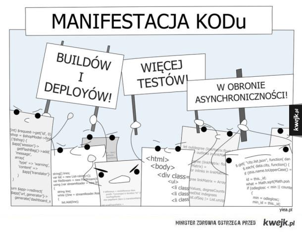 Manifestacja kodu