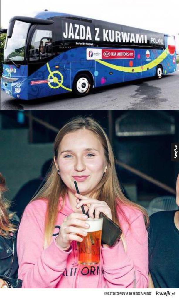 Autobus Polaków na Euro