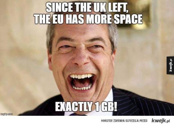 1GB mniej w UE