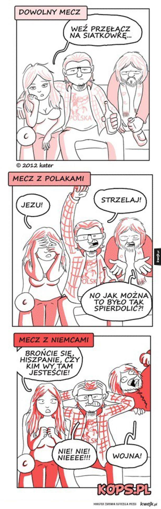 Typowy polski kibic