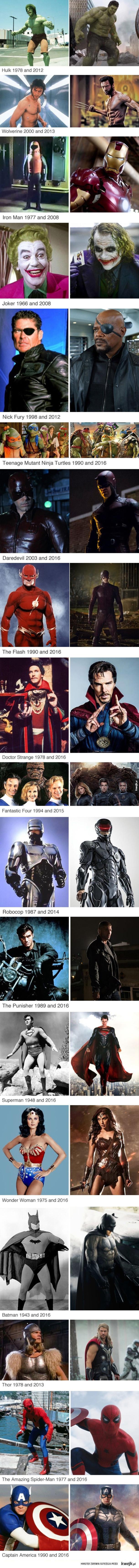 Superhero kiedyś i dziś