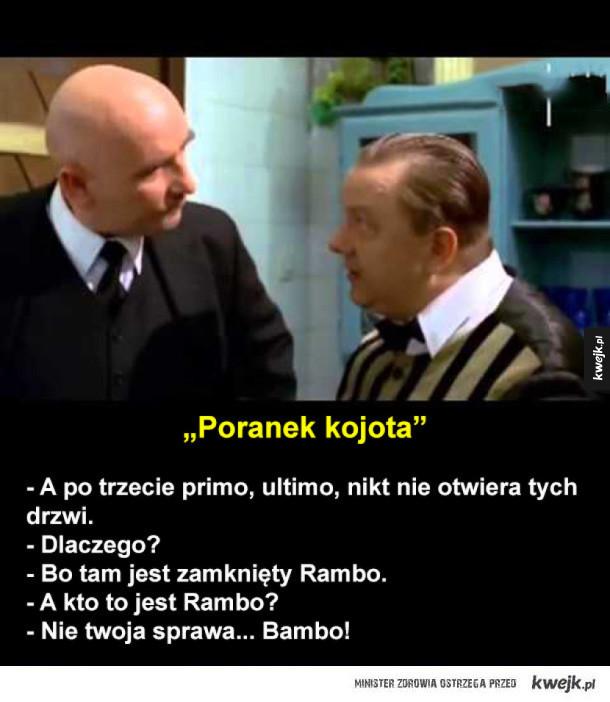 Teksty największych świrów z polskich komedii