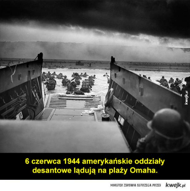 Lądowanie w Normandii na archiwalnych fotografiach