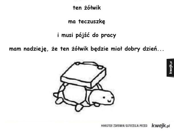 miłego dnia żółwiku!
